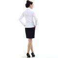 freeship! women easycare , white, purple,gray business clothing 2