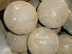 Low abrasion steel ball