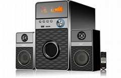 2.1 computer speaker with usb/sd fm radio