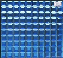 磨边镜玻璃马赛克:银色,金色,宝石蓝,玫瑰红