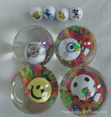 55mm Eye Flash glitter  Bounce Bouncing  Ball