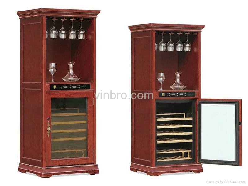 VinBRO Wooden Wine Cellar Cabinet Bar Furniture Electric Home Dispenser Coolers 2