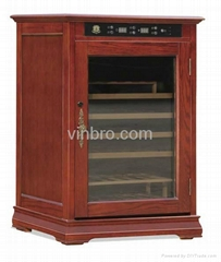 VinBro Climate Controlled Electronic Cigar Humidor Cabinet Wooden Furniture Cool