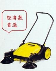 工廠用雙刷無線手推式掃地車