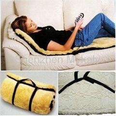 Luxury Imitation Wool Fabrics Vibration Heating Massage Mattress