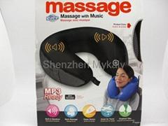 U-Shape Massage Pillow with MP3 Speaker