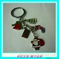 圣诞烤漆合金钥匙扣