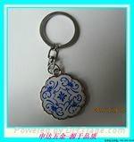 合金青花瓷钥匙扣