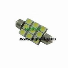 Led Festoon Bulb 9SMD5050 led reading light SV-8.5 led festoon light 39mm