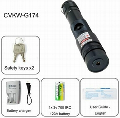 On Sale Green Laser Pointer with High Power 100mW and All-weather cast metal des