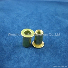 m3 flat head knurled body rivet nut