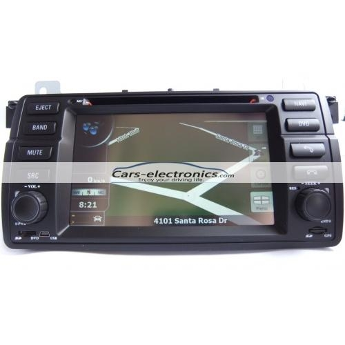 Double DIN BMW E46 DVD Player with GPS Navigation for BMW 3 Series E46 3