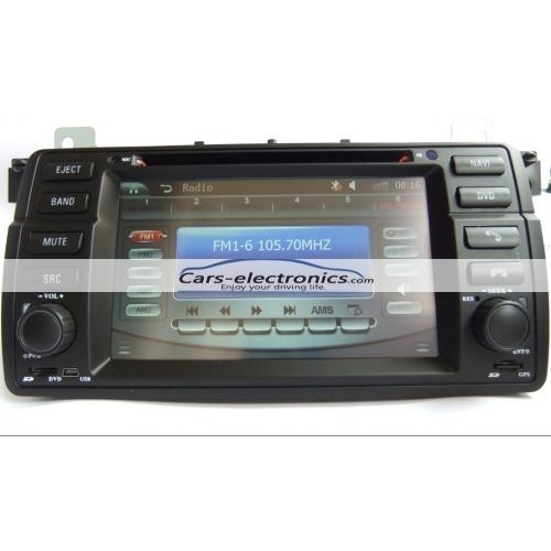 Double DIN BMW E46 DVD Player with GPS Navigation for BMW 3 Series E46 5