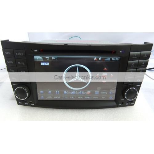 2 Din Benz W211 DVD Player - E Class Benz W211 GPS Navigation Radio Bluetooth 1