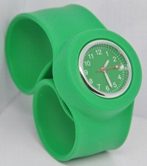 Silicone slap watches cartoo watch for Chritmas gift