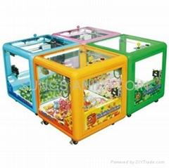 Magic cube mini claws catch toy crane game machine