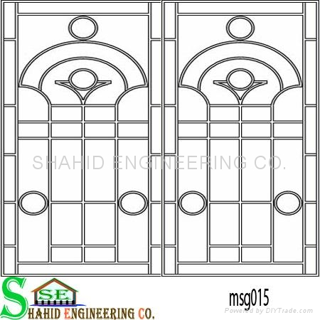 Window grill shahid engineering co china metal for Window design for house in india