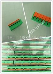 FS142R-5.08弹簧式 PCB接线端子 免螺丝式连接器 5.08mm间距