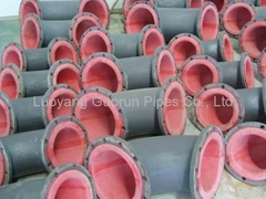 Natural rubber lining carbon steel Tee with flanges