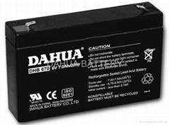 VRLA AGM battery 6V7AH