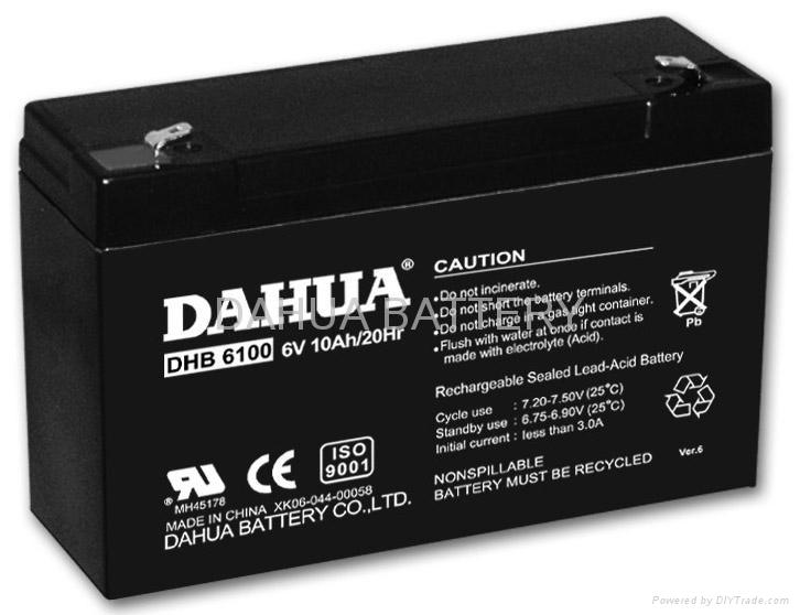 Sealed lead acid battery 6V10AH 1
