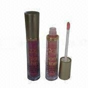 Shine Fashionable Lip Gloss, Customized Designs and Logos are Welcome