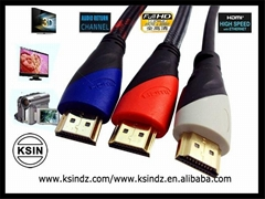Hdmi cable  2M 1.4version 24k gold plated high speed for ethernet.