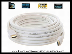 hdmi cable White 30-50m  extended cable with 24k gold plated connectors.
