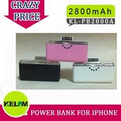 2800mAh New Design Back Up Battery Pack For Iphone, Itouch Ipod