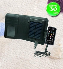 1800mAh Wallet Solar Power Charger for Smart Phone Iphone PSP NDSL etc