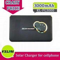 Hot Sale 3000mAh New Travel Urgent Solar Charger for Mobile Phone Iphone PSP MP3