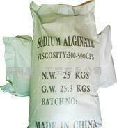 Printing and dyeing sodium alginate