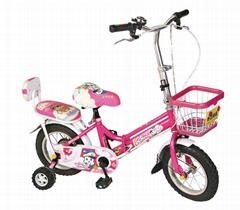 pink folding children bicycles witn aluminum rim