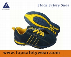 Soft Suede Leather Safety Shoes Stock for Men