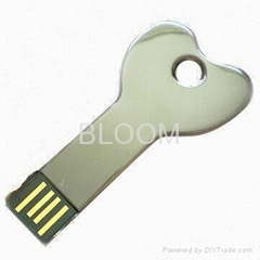 Heart shape Key USB Memory Stick 2GB 4GB 8GB 16GB from Reliable Supplier