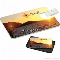 Credit Card Shaped USB Flash Drives 2GB 4GB 8GB 16GB Business Gift