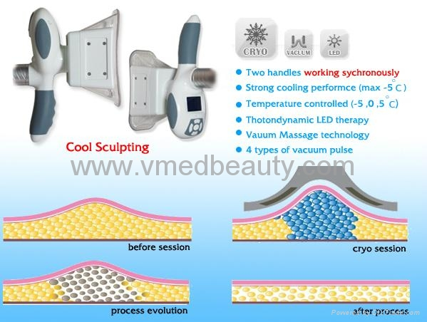 Lipo Cryo Cool Sculpting Fat Freezing Beauty Salon Device
