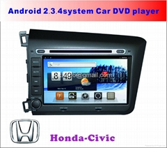 Honda Civic Android 2.3.4system Car DVD player