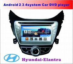 现代伊兰特安卓系统专用车载DVD播放器