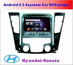 现代索纳塔安卓系统专用车载DVD播放器
