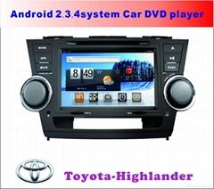 丰田汉兰达安卓系统专车专用车载DVD播放器