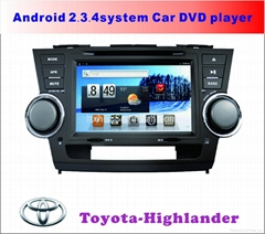 Toyota Highlander Android Special Car DVD player