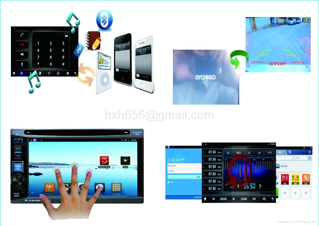 Android System Universal Car DVD Player 3