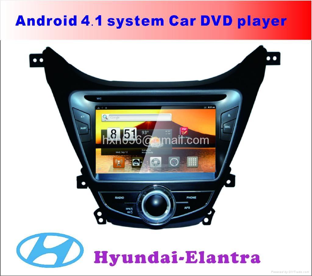 伊兰特最新安卓系统车载DVD播放器 1