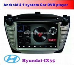 现代IX35  安卓系统车载DVD播放器