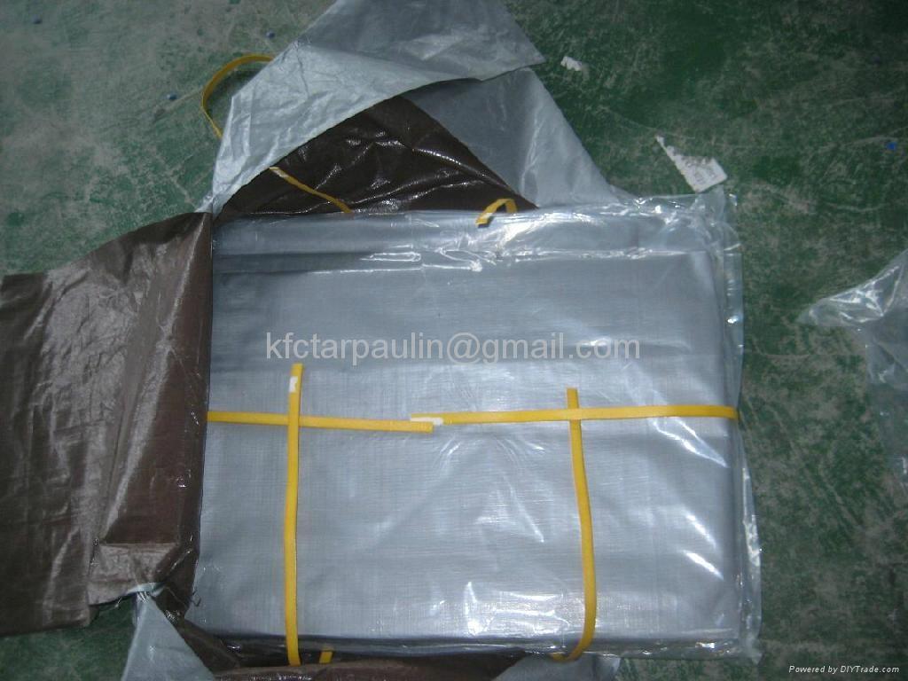 woven fabric cavans pe tarpaulin polyethylene hdpe sheets with plastic corner, 2