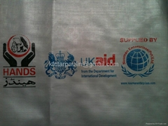 Logo Printed PE Tarpaulin Sheet Groundsheet cover