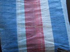 White/Blue/Red Stripe PE/PP Tarpaulin