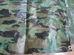 Camping Camouflage PE Tarpaulin 80gsm