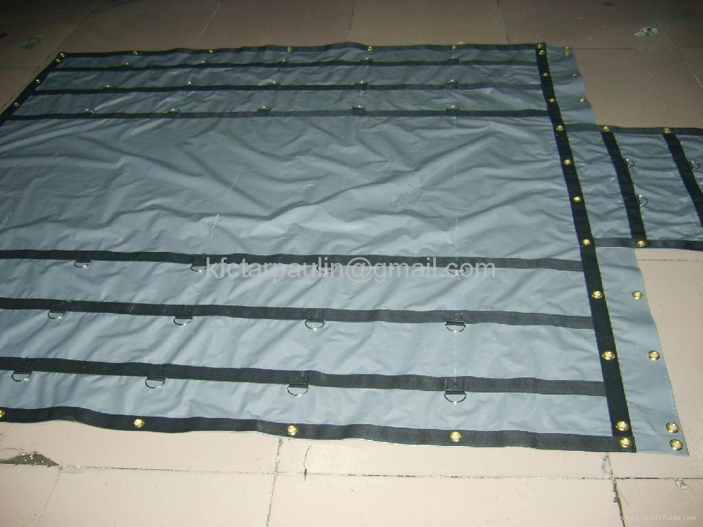 Steel Tarpaulin with brass grommets and D Rings 1